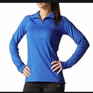 Adidas Climalite quarter zip blue pullover